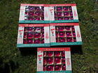 5 boxes of Vintage Christmas Fantasia Poland Hot Pink Glass Ornaments 60 total