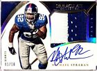 MICHAEL STRAHAN 2015 Immaculate On Card AUTO JUMBO 2 CLR GU Jersey PATCH 01 10