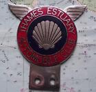 Vintage  Chrome Enamel Car Mascot Badge : Shell  Thames Estuary Automobile Club