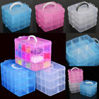 Plastic Clear Jewelry Bead Organizer Box Storage Container Case Craft Tool New