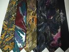Abstract Neck Ties Lot of 6 Hand Painted Colorful Unique