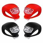 4 Pcs Silicone Bicycle Bike Cycle Safety LED Head Front  Rear Tail Light Set
