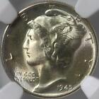 1945 D MERCURY DIME, NGC MS67, SATINY WHITE GEM, SMOOTH SATIN SURFACES, SWEET!