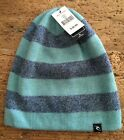 Rip Curl Grind Time Reversible To Black Beanie Hat 2 In One Warm Comfortable