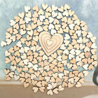 100pcs 4 Sizes Mixed Rustic Wooden Love Heart Wedding Table Scatter Decoration