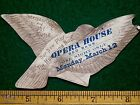 1880s Die Cut Humming Bird Opera House Red Bank Play Victorian Trade Card F6