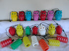 21 Vintage Blow Mold Owls Tiki RV Patio Camper Party String Lights Lanterns