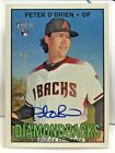Peter O'Brien 2016 Topps Heritage High Number Real One on-card Autograph Auto RC