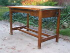 Antique Vintage Hamilton Solid Wood Oak 4-Post 2-Drawer Drafting Table Desk Nice