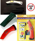 Utility Fixed Knife With Plastic Holder Red Cover Case Trimming Stanley Type