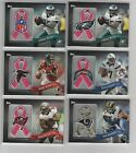 LeSean McCoy 2013 Topps Commemorative NFL Logo BCA Pink Ribbon Jersey Patch 99