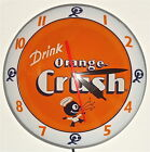 NEW ORANGE CRUSH DOUBLE BUBBLE CLOCK
