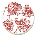 CORELLE Corelle Red Paisley Absorbent Stone Coaster, 4-Pack