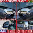 For 2012 2013 2014 2015 2016 Nissan Leaf Triple Chrome Mirror COVERS Overlays