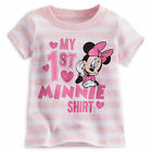 Disney Store My First  Minnie Mouse Girls Baby Shirt Pink Size 3 6 9 12 Months