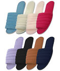 Womens Cotton House Terry Slippers Black White Blue Pink Red Sizes M L XL New
