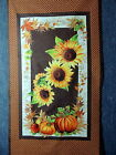 Sunflower Pumpkin  Apple Harvest Quilting Fabric 23 1 2 Panel 682