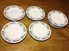 Gibson Everyday Christmas Charm Holly Berries SALAD PLATES Set of 8