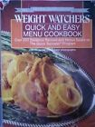 WEIGHT WATCHERS 1963 1988 SILVER ANNIVERSARY QUICK AND EASY MENU