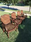 Four French Provincial Caned Armchairs With Cushions