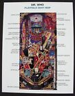 Doctor Who Pinball Machine Bally Shot Map 1992-09