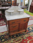 A VICTORIAN MARBLE-TOP WASHSTAND/COMMODE, Charles Lot 293