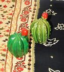 Vintage Collectible Cacti Cactus Flower Bud Salt Pepper Shaker Set