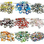 Lot 100 Mix Random Murano Glass European Bead Compatible for Most European Snake