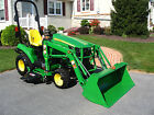 John Deere 1023E diesel 4x4 hydro54 deck  loader compact tractor