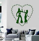 Vinyl Wall Decal Hippie Peace Love Couple Stickers Mural ig3796