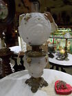 Cherub Crystal Satin Decorated GWTW Gone With the Wind Parlor Banquet Oil Lamp