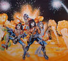 Kiss Bally Pinball Machine Original Autographed Lmited Edition Poster