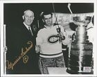 MAURICE RICHARD - AUTOGRAPHED 8X10 MONTREAL CANADIENS w PSA STICKER ONLY