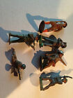 Vintage Cast Iron Or Lead Manoil World War Army Men Toy Soldier Lot Of 6