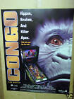 1995 WILLIAMS CONGO PINBALL  POSTER W/BONUS FLYER