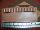 44 Magnum & 45 Colt Caliber Bullet Cartridge Belt Slide Leather Ammo Holder Used