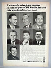 CBS Radio Network PRINT AD - 1965 ~~ Garry Moore, Jack Drees, Robert Trout