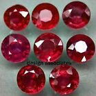 NATURAL RUBY 6 MM ROUND CUT VVS SOLD AS EACH