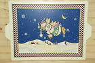 Sakura Debbie Mumm Snow Angel Village Wooden Tray 18