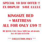 NEW EX DISPLAY KINGSIZE BED  MATTRESS SAVE HUNDREDS OF POUNDS BE QUICK