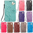 Fashion 3D Bling Strass Flip Patterned PU Leather Card Pocket Stand Case Cover 5