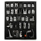 BABAN Professional 32 Pcs Domestic Sewing Machine Presser Feet Kit For Brothe...
