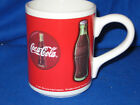 Vtg 1998 Red & White w/  bottled Coca-Cola logo Coffee Cup,  Mug by Gibson