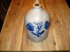 Antique Cobalt Flower Decorated Jug 2 Gallon Jug Very Clean