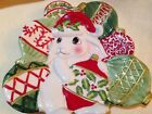 Fitz & Floyd Candy Dish Platter Christmas Serving Plate - Christmas Bunny Bloom