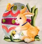 Fitz & Floyd Essentials Painting Easter Eggs Decorative Canape Plate 8