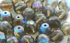 1200 PCS WHOLESALE 8mm CZECH GLASS FIRE POLISHED BEADS BLACK DIAM AB