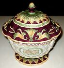 FITZ &FLOYD BARONIAL HOME CLASSICS FOOTED CENTERPIECE BOWL JAR ARTIST SIGNED NEW