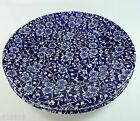 Queen's Calico Blue Salad Plates Set of 4 Chintz Malaysia 8-1/8