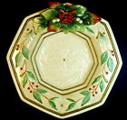 Fitz Floyd Classics Winter Wonderland Large Octagonal Serving Vegetable Bowl